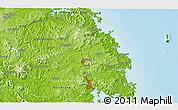 Physical 3D Map of Moerewa