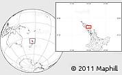 Blank Location Map of Kawakawa