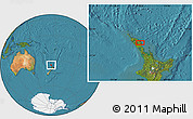Satellite Location Map of Kawakawa