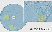 Savanna Style Location Map of Kawakawa, hill shading