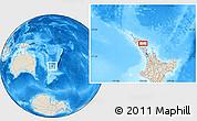Shaded Relief Location Map of Kawakawa