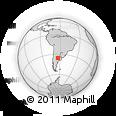 Outline Map of General Pico, rectangular outline