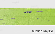 "Physical Panoramic Map of the area around 35° 33' 50"" S, 64° 31' 30"" W"
