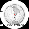 Outline Map of Talca, rectangular outline