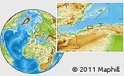 Physical Location Map of 'Aïn Merane