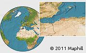 Satellite Location Map of 'Aïn Merane