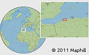 Savanna Style Location Map of 'Aïn Merane