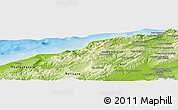 """Physical Panoramic Map of the area around 36°19'55""""N,0°55'29""""E"""
