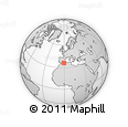 """Outline Map of the Area around 36° 19' 55"""" N, 0° 46' 30"""" W, rectangular outline"""