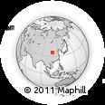 Outline Map of Zhuzhuang, rectangular outline