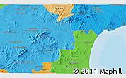 Political 3D Map of Zaghouan