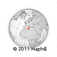 Outline Map of Zaghouan, rectangular outline