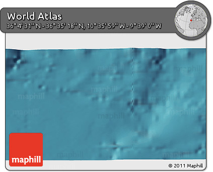 """Satellite 3D Map of the Area around 36°19'55""""N,10°7'30""""W"""