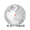 """Outline Map of the Area around 36° 19' 55"""" N, 10° 7' 30"""" W, rectangular outline"""
