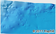 """Physical 3D Map of the area around 36°19'55""""N,10°58'29""""W"""