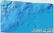 """Shaded Relief 3D Map of the area around 36°19'55""""N,10°58'29""""W"""