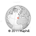 """Outline Map of the Area around 36° 19' 55"""" N, 10° 58' 29"""" W, rectangular outline"""