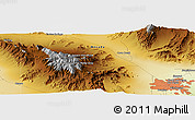 "Physical Panoramic Map of the area around 36° 19' 55"" N, 115° 31' 30"" W"