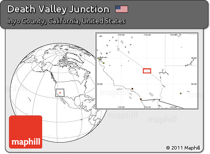 Free Blank Location Map Of Death Valley Junction - Us map death valley