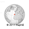 """Outline Map of the Area around 36° 19' 55"""" N, 11° 49' 29"""" W, rectangular outline"""