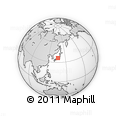 Outline Map of Nonoichi, rectangular outline