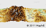 Physical Panoramic Map of Shiojiri