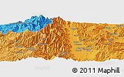 """Political Panoramic Map of the area around 36°19'55""""N,137°46'30""""E"""