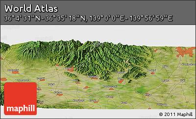 "Satellite Panoramic Map of the Area around 36°19'55""N,139°28'29""E"