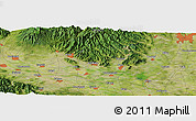 Satellite Panoramic Map of Kisai