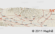Shaded Relief Panoramic Map of Kazo