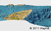 "Satellite Panoramic Map of the area around 36° 19' 55"" N, 28° 7' 30"" E"