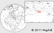 """Blank Location Map of the area around 36°19'55""""N,28°58'30""""E"""