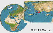 """Satellite Location Map of the area around 36°19'55""""N,28°58'30""""E"""