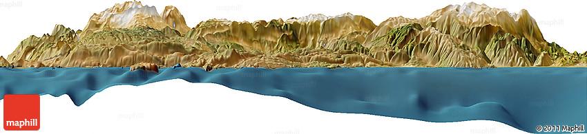 """Satellite Horizon Map of the Area around 36° 19' 55"""" N, 29° 49' 30"""" E"""