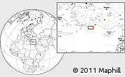 """Blank Location Map of the area around 36°19'55""""N,29°49'30""""E"""