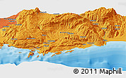 """Political Panoramic Map of the area around 36°19'55""""N,29°49'30""""E"""