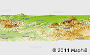 "Physical Panoramic Map of the area around 36° 19' 55"" N, 2° 37' 30"" E"