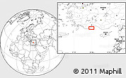 """Blank Location Map of the area around 36°19'55""""N,30°40'29""""E"""