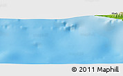 """Physical Panoramic Map of the area around 36°19'55""""N,31°31'29""""E"""
