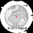 Outline Map of Uçarı, rectangular outline