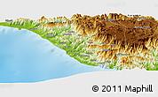 Physical Panoramic Map of Uçarı