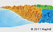 Political Panoramic Map of Uçarı
