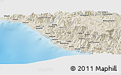 Shaded Relief Panoramic Map of Uçarı