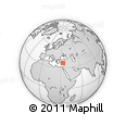"""Outline Map of the Area around 36° 19' 55"""" N, 33° 13' 30"""" E, rectangular outline"""