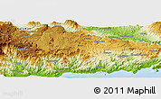 "Physical Panoramic Map of the area around 36° 19' 55"" N, 33° 13' 30"" E"