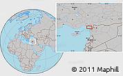 Gray Location Map of Antioch