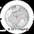 Outline Map of Antioch, rectangular outline