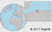 Gray Location Map of Bouira