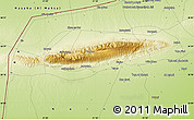 """Physical Map of the area around 36°19'55""""N,41°43'30""""E"""