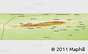 """Physical Panoramic Map of the area around 36°19'55""""N,41°43'30""""E"""